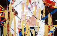 """<p><em>we have all been here,</em>2013</p> <p>acrylic on panel</p> <p>36"""" x 48""""</p>"""