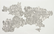 <p>Still Life#9, Pen drawing Collage on Paper, 44''x60'', 2011</p>