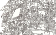 <p>Still Life#10(Detail), Pen drawing Collage on Paper, 36''x48'', 2011</p>