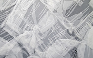 <p>Mom's Closet (Detail), Layered Mylar cut out, 12' x 11', 2007</p>