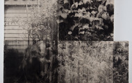 """<p>Homage to Mary, 2012, Toner on canvas, 55""""x60"""" (diptych)</p>"""