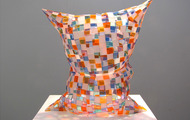 "<p>Glass Pillow / 2013 / Plexiglass / 21 x 20 x 12""</p>"