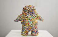 "<p>Bubblewrap Man / 2013 / mixed media / 23 x 24 x 10""</p>"