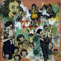 "<p><em>When You Were A Little Girl 2</em>, 2009, 15""x15"", Ink, acrylic and screenprint on three panes of glass.&nbsp;</p>"