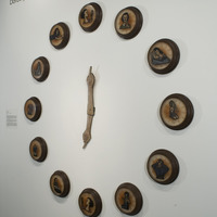 <p>Installation view of <em>The Hours 1-12</em> at Redux Contemporary Art Center in Charleston SC for the show <em>Past Presence.<br /></em></p>