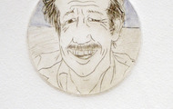 <p>Warren, 2012 / Drypoint / 3 inches diameter</p>