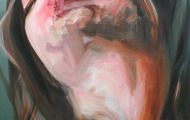 """<p>Punch Drunk 40"""" x 32"""" oil on canvas</p>"""