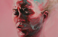 "<p>Pink Exertion  24"" x 24""  oil on canvas   2012</p>"