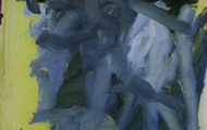 """<p><em>Quotidian 17</em><br />Oil on tracing paper<br />Approx 14"""" x 11""""<br />2012</p>"""