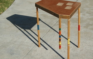 """<p style=""""text-align: center;""""><strong>CROQUET LEG END TABLE</strong></p>"""