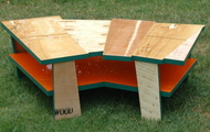 <p><strong>COFFEE TABLE WITH ORANGE SHELF 2</strong></p> <p><strong>SOLD</strong></p>