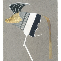 <p>Ankole, 2014.&nbsp; Mixed media and found objects on fabriano paper, 6 x 4 inches</p>