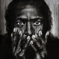 """<p style=""""text-align: center;"""">Miles Davis</p> <p style=""""text-align: center;"""">11"""" x 14""""</p> <p style=""""text-align: center;"""">Acrylic and dry media on paper</p> <p style=""""text-align: center;""""><span>(Based on a photograph </span><span>by Anton Corbijn)</span></p> <p style=""""text-align: center;""""><span>Available here:<a href=""""https://www.etsy.com/listing/114119684/original-drawing-miles-davis-portrait"""" target=""""_blank"""">https://www.etsy.com/GenieMelisande</a></span></p>"""