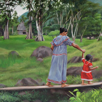 "<p style=""text-align: center;"">Ngobe Mother and Child</p>