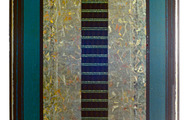 "<p><strong>SILVER FIELD QUINTET (REWORKED)   </strong>1986-88   48"" x 26""</p>"