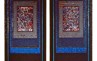 "<p><strong>OCEAN'S NIGHTS (2)</strong>&nbsp; &nbsp; 1987-88 &nbsp; 2@ 66"" x 30"" ea.</p>"