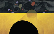 <p><em>Black Spacial Hole</em>, 1969, Oil on canvas, 24 X 24 inches.</p>