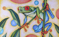 <p><em>Red Eyed</em>, 1988, Colored pencil on paper, small (size unknown).</p>