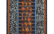 "<p><strong>THICKET BLUE &nbsp; &nbsp;</strong>1996 &nbsp; 48"" x 15""</p>"