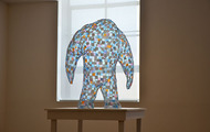"<p>Glass Yeti      plexiglass, glue       30 x 26 x 14 ""       2014</p>"
