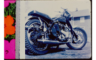 <p><strong>Rephotographed original photo of my 1953 BSA 650</strong></p>
