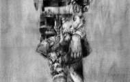 <p>'What's She Building in There?'</p> <p>Pencil on Paper. 30cm x 50cm</p>