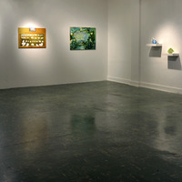 <p><em><strong>Lives of Rocks,</strong></em><strong> </strong>installation view at Box 13 Artspace, Houston, TX</p>
