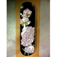 <p>'peony study 24' Digital print on skatedeck. 2014-15. Collaboration with Love Skateboards.</p>