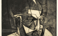 <p><em>Head of Odysseus</em>, 1963, Engraving & aqua-tint on paper, 11 X 9 inches.</p>
