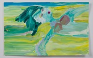 <p>Ginger Beach, Acrylic on Paper, 13 x 21 inches, 2014</p>