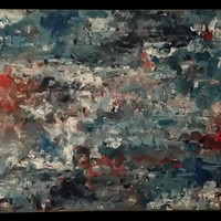 """<p>Abstract 2 - 24""""x48"""" Acrylic on stretched canvas. 2013. Not for sale.<br /><br />This is the second abstract painting I ever did.</p>"""