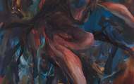 <p><em>Keep Me In the Dark</em>     60 x 48 inches    oil on canvas</p>