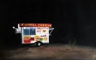 "<p>""Funnel Cakes"", Gouache on Paper, 2016, 9 x 12 in.</p>"