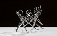 <p><em>I Made It (Series #1) DETAIL</em>&nbsp;|&nbsp;used surgical tools and zip ties |&nbsp;h 4&rdquo; w 7&rdquo; d 7&rdquo; | 2009 |&nbsp;<strong>SOLD</strong></p>
