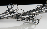 "<p><em>I Made It (Series #3) DETAIL</em> | used surgical tools and zip ties | h 3.75"" w 24.25"" d 4"" 