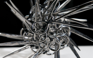 "<p><em>I Made It (Series #6) DETAIL</em> | used surgical tools and zip ties | h 6.5"" w 11"" d 7"" 