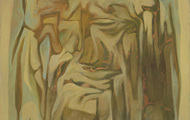 <p><em>Stone Head</em>, 1965, Oil on canvas, 24 X 30 inches.</p>
