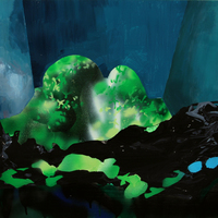 """<p><span>untitled, 2011. Acrylic and spray paint on paper on panel, 22 x 30""""</span></p>"""