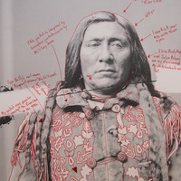 """<p>Title: Bia Eélisaash/Large Stomach Woman (Pregnant Woman) / Two Belly</p> <p><em>Artist-manipulated digitally reproduced photograph by C.M. </em></p> <p><em>(Charles Milton) Bell, National Anthropological Archives, Smithsonian Institution</em></p> <p>Medium: Pigment Print on Archival Photo-Paper</p> <p>Size: 24"""" x 16.45"""" with additional 1"""" border</p> <p>Date: 2014</p>"""