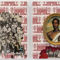 <p>Genevieve Gaignard<br /><em>Red, White &amp; You</em>, 2018<br />Collage on Panel<br />20 x 16 inches each (Diptych)</p>