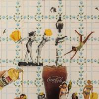 <p>Genevieve Gaignard<br /><em>Wet Hot American Summer</em>, 2018<br />Collage on Panel<br />36 x 24 inches</p>