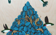 <p>Tangled Up in Blue</p> <p>&nbsp;Oil on Birch&nbsp;</p> <p>Available for Purchase</p>