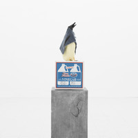 <p><strong><em>Gaggle of Greasy, Grimy Goosey Guts</em></strong></p> <p><br />Ceramic eggs, cement board, cardboard, plastic duck feet, taxidermy form &amp; head, textile, grease</p> <p><br />2018</p> <p><br />62&rdquo; x 24&rdquo; x 24&rdquo;</p>