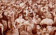 """<p>Life During Wartime, 2006&nbsp;(original available upon request, 26 x 60"""")</p>"""