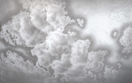 "<p>Clouds #5, 2020, acrylic on canvas, 54 x 72""</p>"