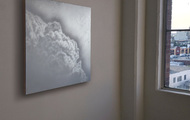 """<p>Installation view of Quicksilver #10</p> <p><a href=""""https://youtu.be/T2ejHebnFls"""" target=""""_blank"""">Video</a> showing effects of lighting and motion</p>"""